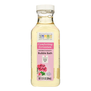 Aura Cacia - Aromatherapy Bubble Bath Comforting Geranium - 13 Fl Oz Aura Cacia Botanicals And Herbs - Peach Ruby