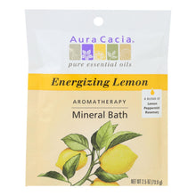 Load image into Gallery viewer, Aura Cacia - Aromatherapy Mineral Bath Energizing Lemon - 2.5 Oz - Case Of 6 Aura Cacia Botanicals And Herbs - Peach Ruby