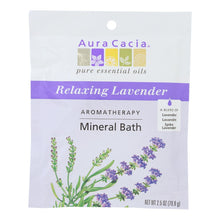 Load image into Gallery viewer, Aura Cacia - Aromatherapy Mineral Bath Lavender Harvest - 2.5 Oz - Case Of 6 Aura Cacia Botanicals And Herbs - Peach Ruby