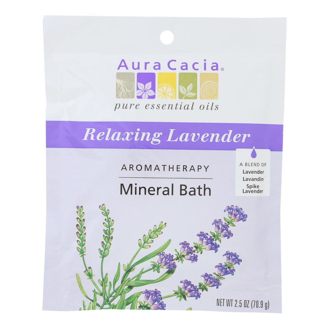 Aura Cacia - Aromatherapy Mineral Bath Lavender Harvest - 2.5 Oz - Case Of 6 Aura Cacia Botanicals And Herbs - Peach Ruby