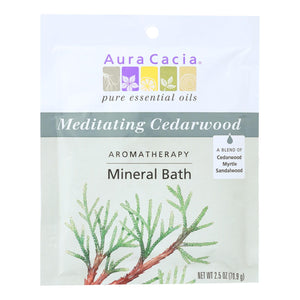 Aura Cacia - Aromatherapy Mineral Bath Meditation - 2.5 Oz - Case Of 6 Aura Cacia Botanicals And Herbs - Peach Ruby