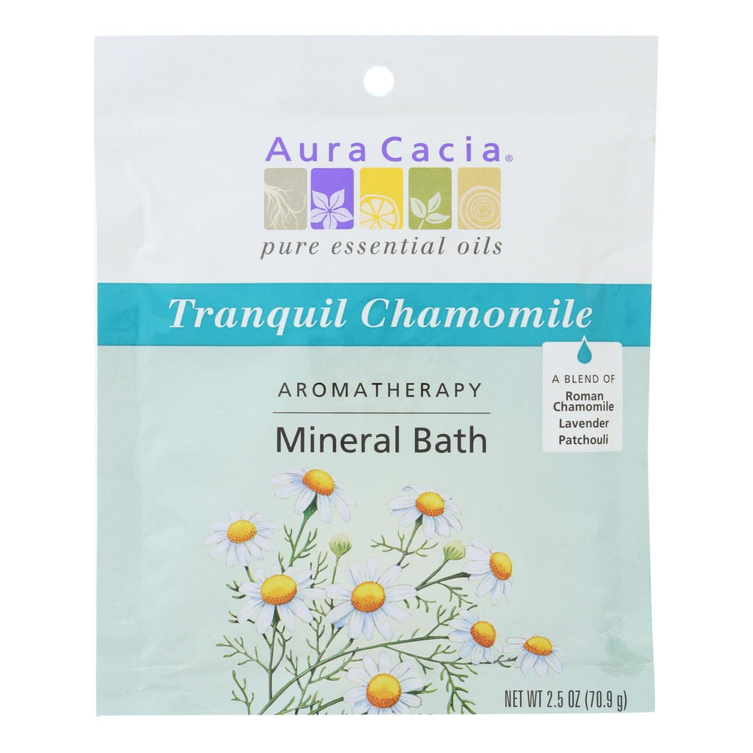 Aura Cacia - Aromatherapy Mineral Bath Tranquility - 2.5 Oz - Case Of 6 Aura Cacia Botanicals And Herbs - Peach Ruby