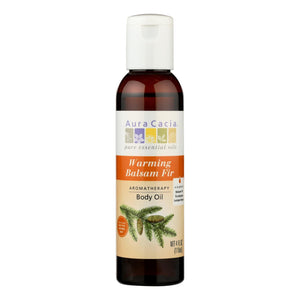 Aura Cacia - Aromatherapy Warming Balsam Fir Body Oil - 4 Fl Oz Aura Cacia Botanicals And Herbs - Peach Ruby