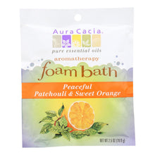 Load image into Gallery viewer, Aura Cacia - Foam Bath Peaceful Patchouli And Sweet Orange - 2.5 Oz - Case Of 6 Aura Cacia Botanicals And Herbs - Peach Ruby