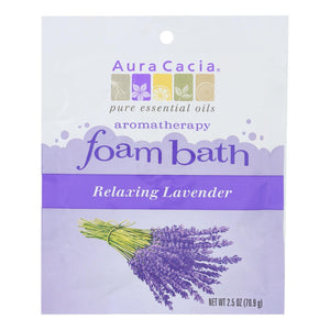 Aura Cacia - Foam Bath Relaxing Lavender - 2.5 Oz - Case Of 6 Aura Cacia Botanicals And Herbs - Peach Ruby