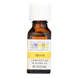 Aura Cacia - Myrrh In Jojoba Oil - 0.5 Fl Oz Aura Cacia Botanicals And Herbs - Peach Ruby