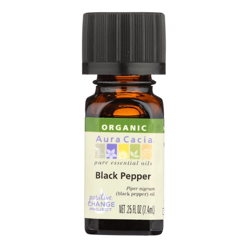Aura Cacia - Organic Essential Oil - Black Pepper - .25 Fl Oz Aura Cacia Botanicals And Herbs - Peach Ruby