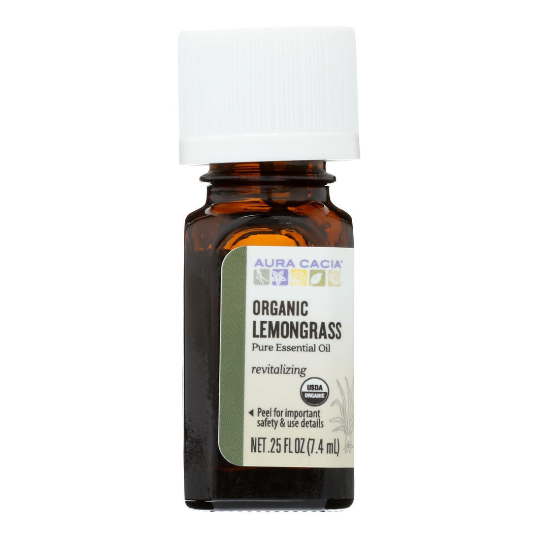 Aura Cacia - Organic Essential Oil - Lemongrass - .25 Oz Aura Cacia Botanicals And Herbs - Peach Ruby