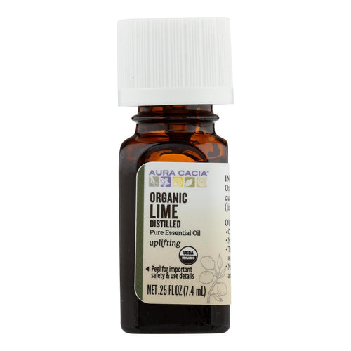 Aura Cacia - Organic Essential Oil - Lime - .25 Fl Oz Aura Cacia Botanicals And Herbs - Peach Ruby