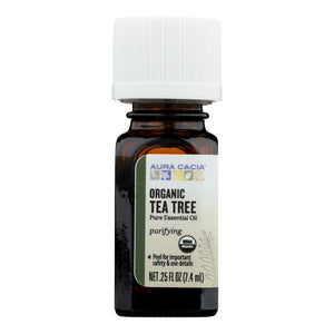 Aura Cacia - Organic Essential Oil - Tea Tree - .25 Oz Aura Cacia Botanicals And Herbs - Peach Ruby