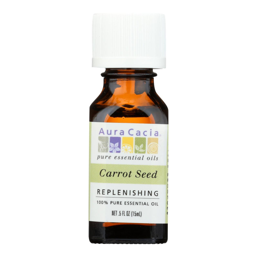 Aura Cacia - Pure Essential Oil Carrot Seed - 0.5 Fl Oz Aura Cacia Botanicals And Herbs - Peach Ruby