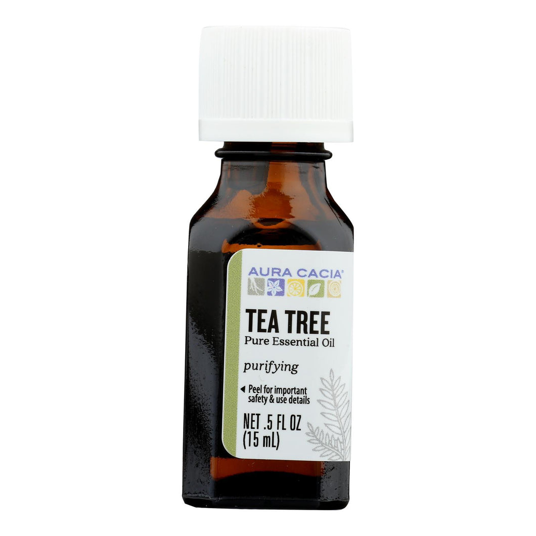 Aura Cacia - Pure Essential Oil Tea Tree - 0.5 Fl Oz Aura Cacia Botanicals And Herbs - Peach Ruby