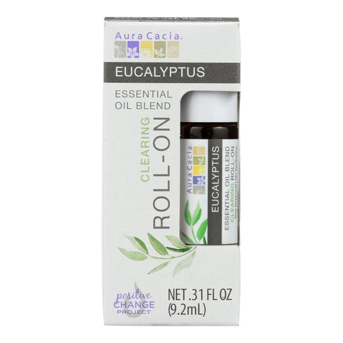 Aura Cacia - Roll On Essential Oil - Eucalyptus - Case Of 4 - .31 Oz Aura Cacia Botanicals And Herbs - Peach Ruby