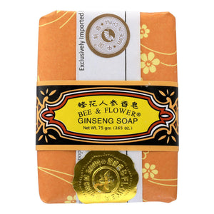 Bee And Flower Soap Ginseng - 2.65 Oz - Case Of 12 Bee And Flower Bath And Body - Peach Ruby