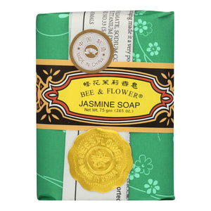 Bee And Flower Soap Jasmine - 2.65 Oz - Case Of 12 Bee And Flower Bath And Body - Peach Ruby