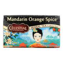 Load image into Gallery viewer, Celestial Seasonings Herbal Tea Caffeine Free Mandarin Orange Spice - 20 Tea Bags - Case Of 6