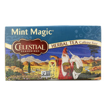 Load image into Gallery viewer, Celestial Seasonings Herbal Tea Caffeine Free Mint Magic - 20 Tea Bags - Case Of 6
