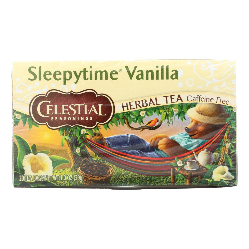 Celestial Seasonings Herbal Tea - Sleepytime Vanilla - Case Of 6 - 20 Bag