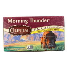 Load image into Gallery viewer, Celestial Seasonings Morning Thunder - 20 Tea Bags - Case Of 6