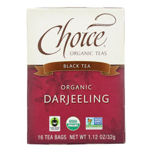 Load image into Gallery viewer, Choice Organic Teas Darjeeling Tea - 16 Tea Bags - Case Of 6