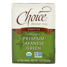 Load image into Gallery viewer, Choice Organic Teas Premium Japanese Green Tea - 16 Tea Bags - Case Of 6