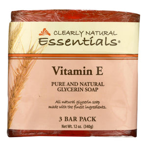Clearly Natural Bar Soap - Vitamin E - 3 Pack - 4 Oz