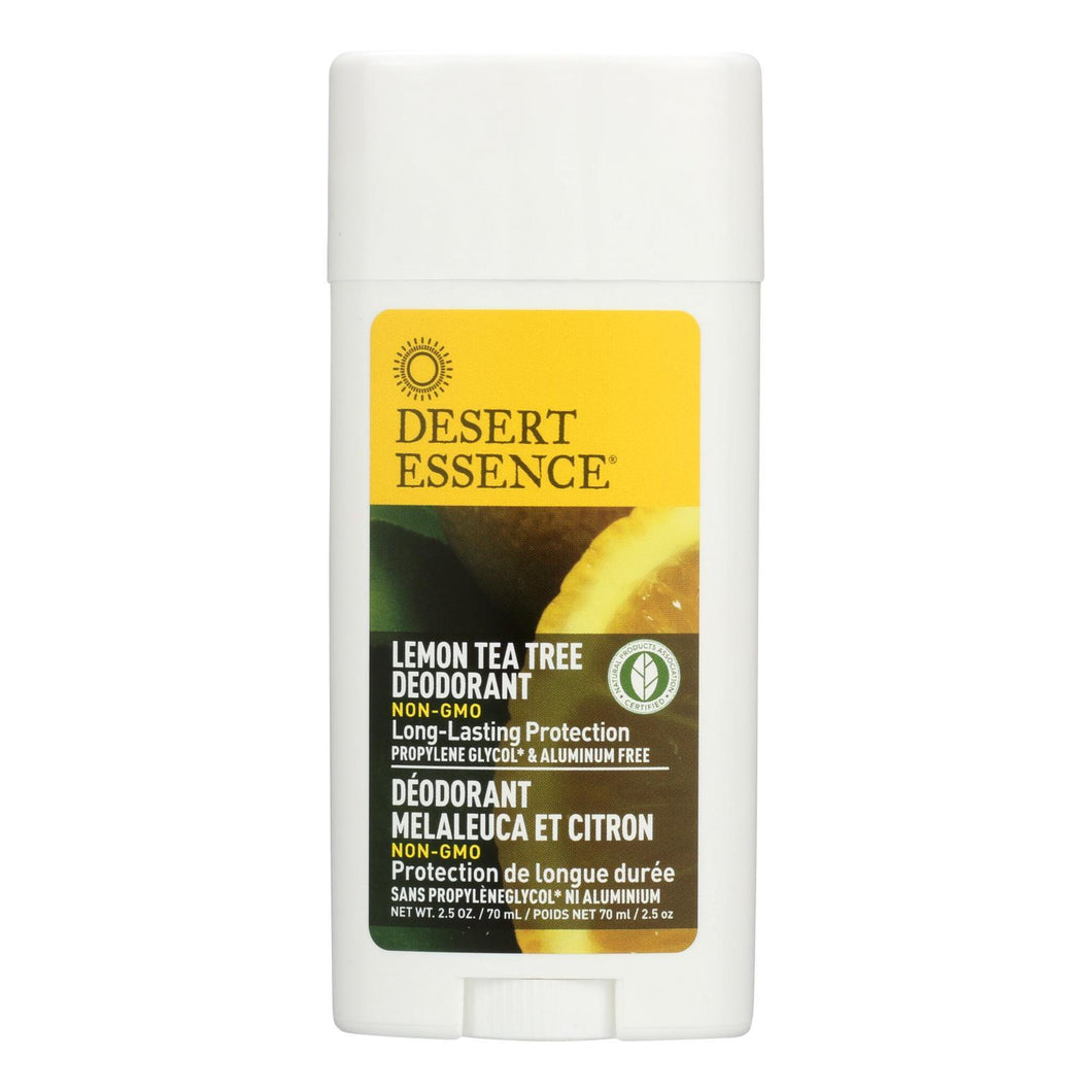 Desert Essence - Deodorant - Lemon Tea Tree - 2.5 Oz