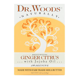 Dr. Woods Castile Bar Soap Ginger Citrus - 5.25 Oz