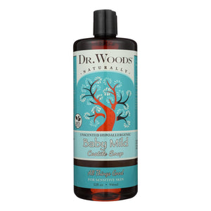 Dr. Woods Naturals Castile Soap - Baby Mild - Case Of 1 - 32 Oz.