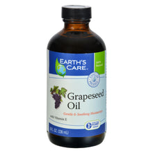 Load image into Gallery viewer, Earth's Care 100% Pure Grapeseed Oil - 8 Fl Oz