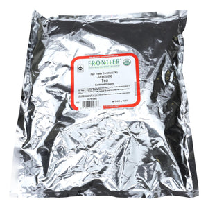 Frontier Herb Tea - Organic - Fair Trade Certified - Green - Jasmine - Bulk - 1 Lb