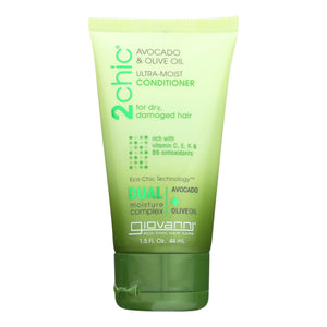 Giovanni Hair Care Products Conditioner - 2chic Ultra-moist Conditioner With Avocado And Olive Oil  - Case Of 12 - 1.5 Fl Oz.
