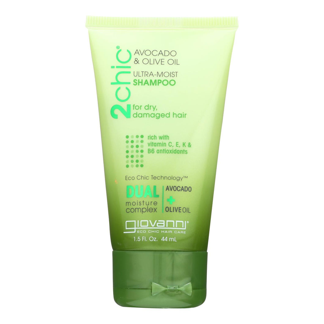 Giovanni Hair Care Products Shampoo - 2chic Ultra-moist Shampoo With Avocado And Olive Oil  - Case Of 12 - 1.5 Fl Oz.