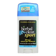 Load image into Gallery viewer, Herbal Clear 24 Hour Natural Sport Deodorant - 1.8 Oz