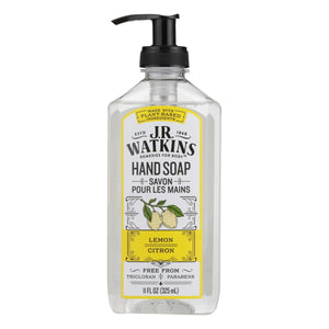 J.r. Watkins Liquid Hand Soap Lemon - 11 Fl Oz - Case Of 6