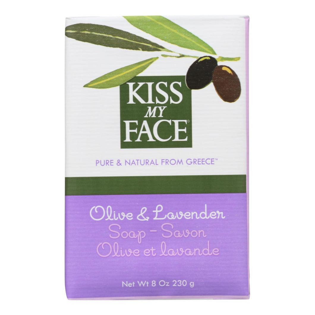 Kiss My Face Bar Soap Olive And Lavender - 8 Oz