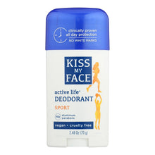 Load image into Gallery viewer, Kiss My Face Deodorant Active Life Sport Aluminum Free - 2.48 Oz