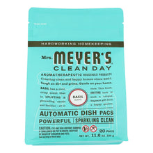 Load image into Gallery viewer, Mrs. Meyer's Clean Day - Automatic Dishwasher Packs - Basil - Case Of 6 - 12.7 Oz