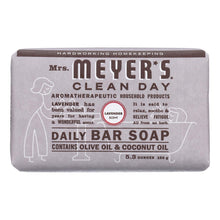Load image into Gallery viewer, Mrs. Meyer's Clean Day - Bar Soap - Lavender - 5.3 Oz