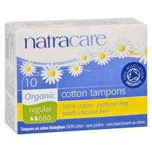 Load image into Gallery viewer, Natracare 100% Organic Cotton Tampons - Regular - 10 Pack