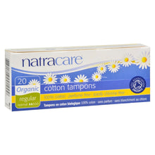 Load image into Gallery viewer, Natracare 100% Organic Cotton Tampons Regular - 20 Tampons
