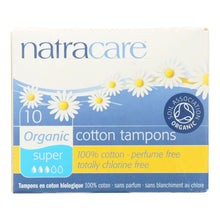 Load image into Gallery viewer, Natracare 100% Organic Cotton Tampons - Super - 10 Pack