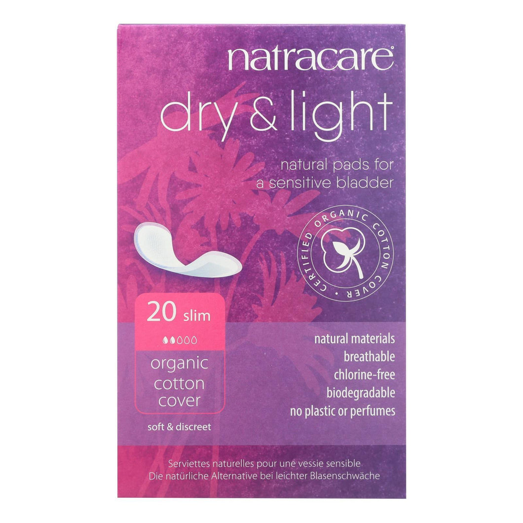 Natracare Dry And Light Individually Wrapped Pads - 20 Pack