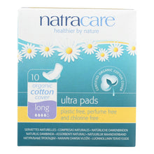 Load image into Gallery viewer, Natracare Natural Uitra Pads W-wings - Long W-organic Cotton Cover - 10 Pack