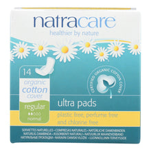 Load image into Gallery viewer, Natracare Natural Ultra Pads W-wings Regular W-organic Cotton Cover -  14 Pack