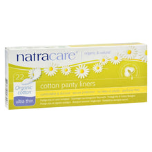 Load image into Gallery viewer, Natracare Ultra Thin Organic Cotton Panty Liners - 22 Pack