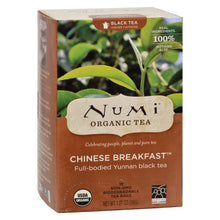 Load image into Gallery viewer, Numi Chinese Breakfast Yunnan Black Tea - 18 Tea Bags - Case Of 6