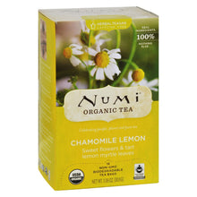 Load image into Gallery viewer, Numi Organic Tea Caffeine Free Chamomile Lemon - 18 Tea Bags - Case Of 6