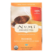 Load image into Gallery viewer, Numi Red Mellow Bush Rooibos Tea - 18 Tea Bags - Case Of 6