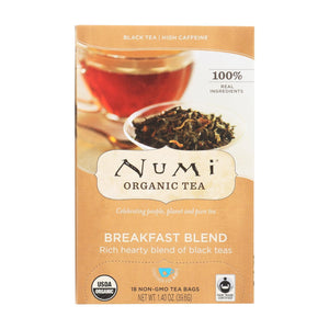 Numi Tea Black Tea - Breakfast Blend - Case Of 6 - 18 Bags